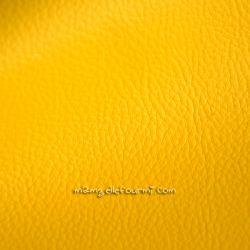 Similicuir grainé jaune