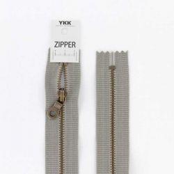 Fermeture métal coton délavé gris