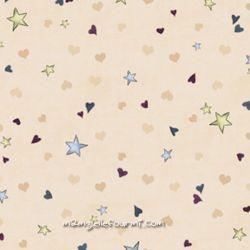 Rainbow dreams cœurs/étoiles crème