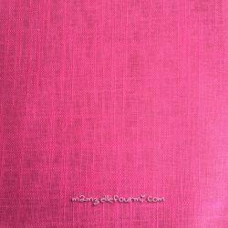 Lin/coton enduit rose