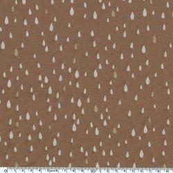 Jersey viscose pluie d'or noisette