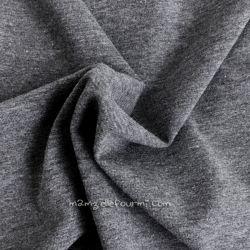 Jersey stretch gris chiné foncé