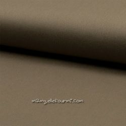 Sergé stretch taupe
