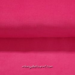 Velours babycord rose fuchsia