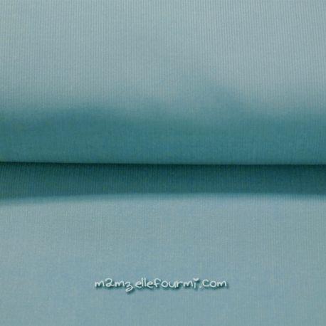 Velours babycord bleu acier