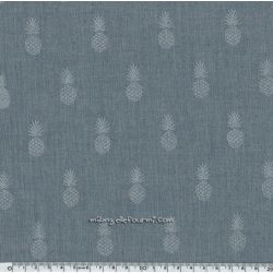 Chambray A nana's fabric silver