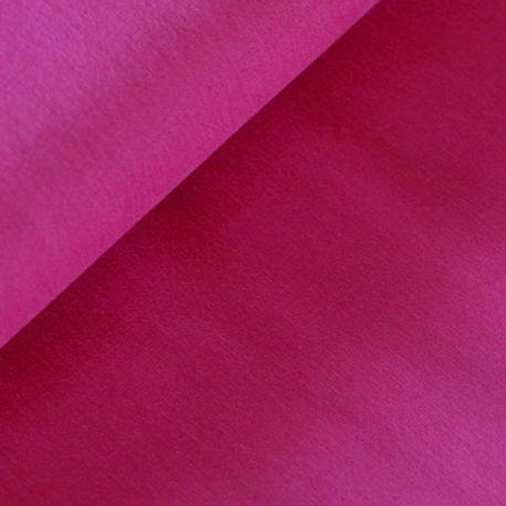 Coton uni rose fuchsia