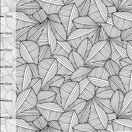 Jersey bio leafs noir/blanc