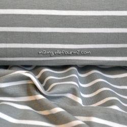 Jersey marinière gris