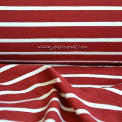 Jersey marinière rouge foncé
