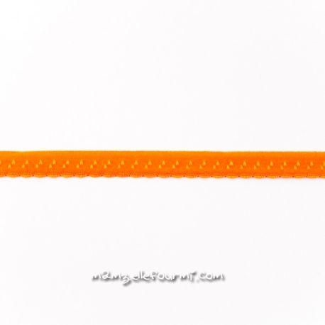 Élastique préplié fantaisie orange