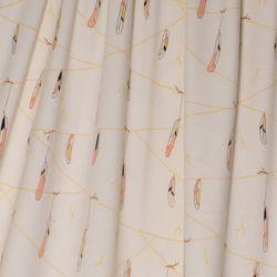 Popeline bio hanging feathers