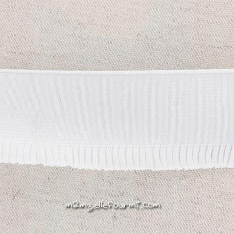 Élastique jupe blanc