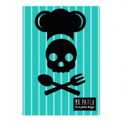 Motif thermocollant skull chef