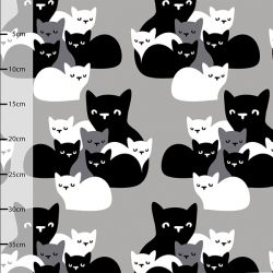 Jersey bio chatons gris