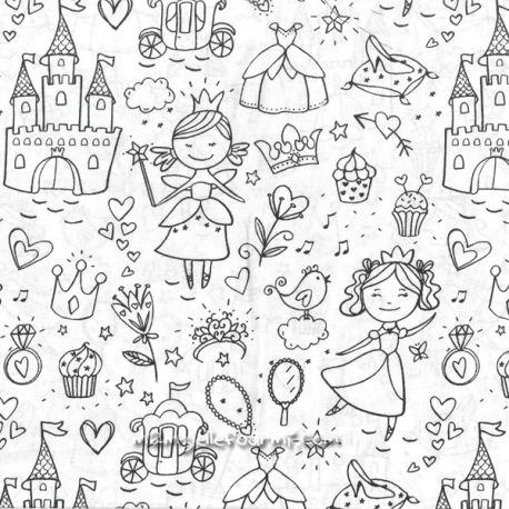 Coton à colorier fairy