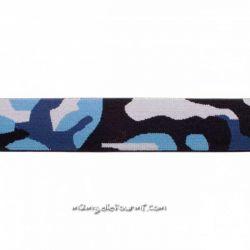 Élastique shorty camouflage bleu