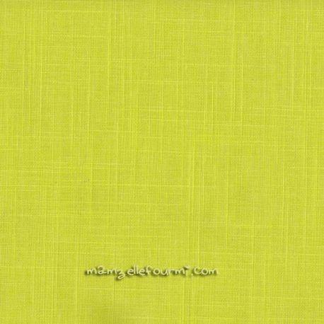Lin/coton enduit jaune
