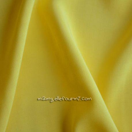 Viscose unie jaune