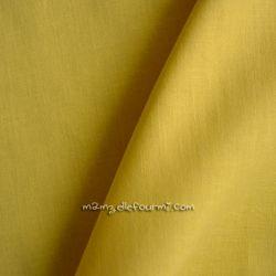 Batiste unie jaune soleil