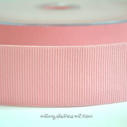 Gros grain élastique 36mm Frou-Frou rose pâle