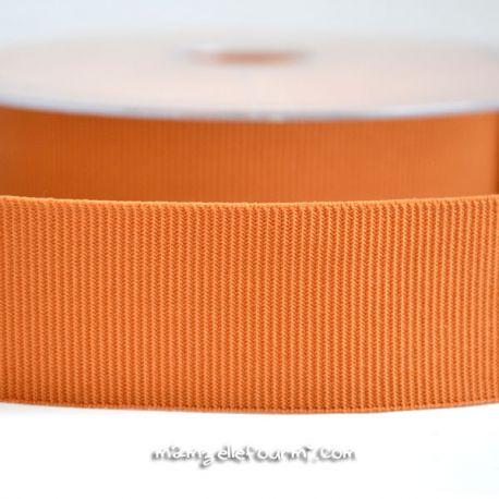 Gros grain élastique 36mm Frou-Frou caramel