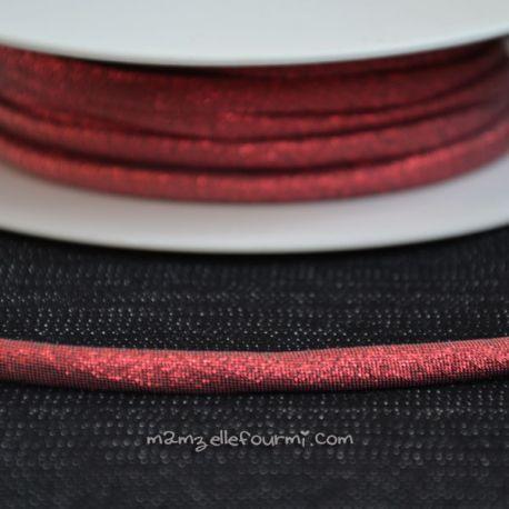 Cordon Frou-Frou scintillant rouge