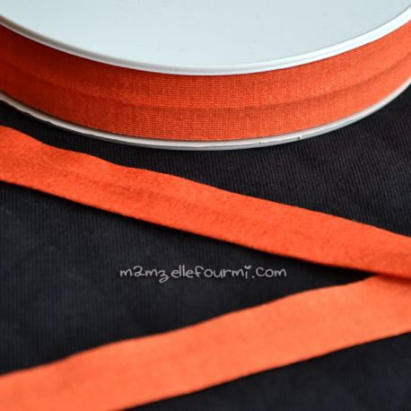 Biais jersey viscose orange