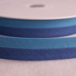 Biais bicolore bleu foncé