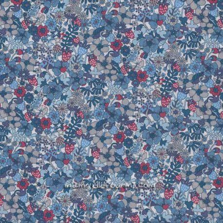Liberty Flower tops bleu
