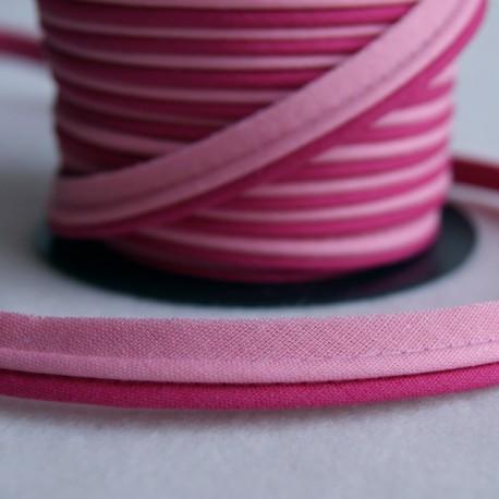 Double passepoil bicolore rose