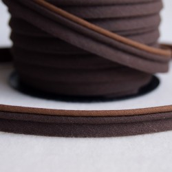Double passepoil bicolore chocolat