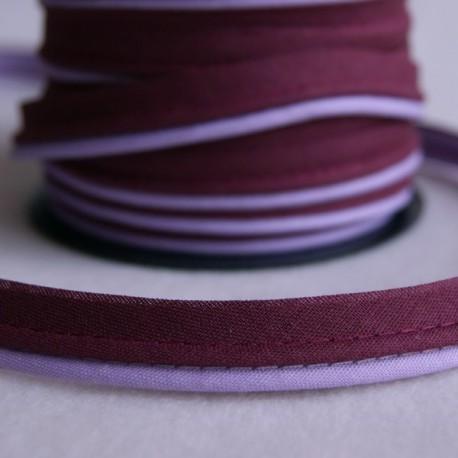 Double passepoil bicolore violet