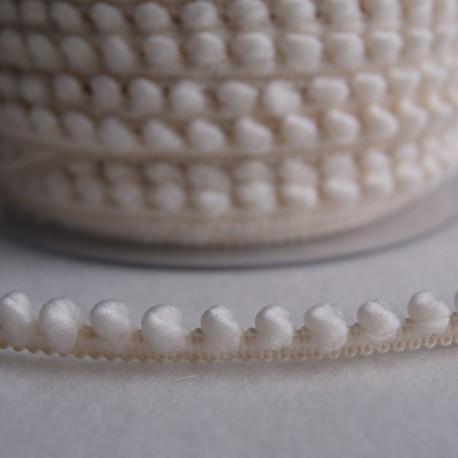 Galon à mini pompons ivoire