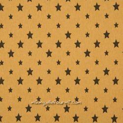 Bord-côte moutarde étoiles noires
