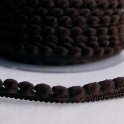 Galon à mini pompons chocolat