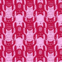 Jersey bio katzentritt rose/framboise