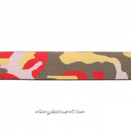 Élastique shorty camouflage rouge