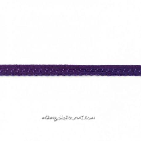 Élastique préplié fantaisie violet