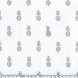 Polycoton A nana's fabric silver chantilly