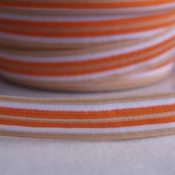 Élastique préplié rayé mandarine