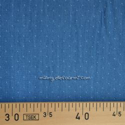 Viscose plumetis denim clair