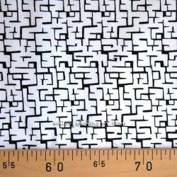 Satin de coton typo blanc