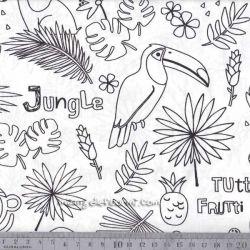 Coton à colorier tropik