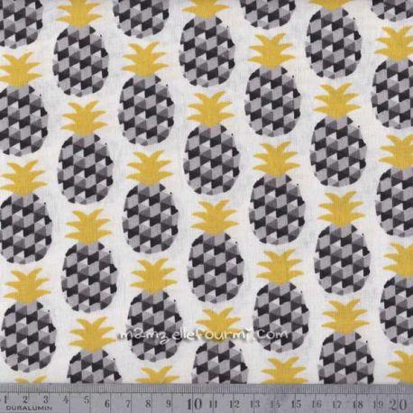 Cretonne mini ananas noir
