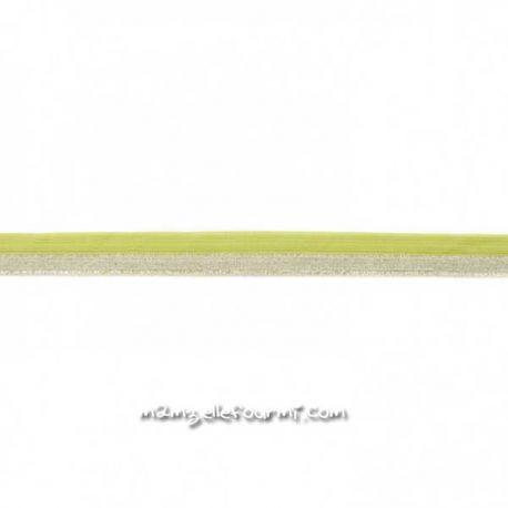 Élastique glitter lime/argent