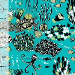 Jersey bio Myyry the diver turquoise/vert pomme