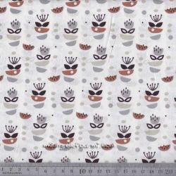 Coton anisa gris-cannelle