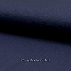 Lin/coton stretch marine