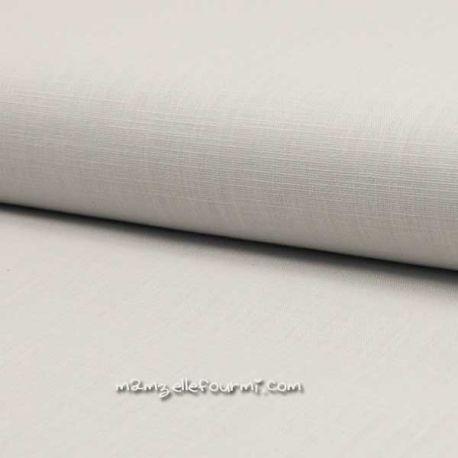Lin/coton stretch gris perle